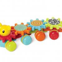 Rolling Toy with Spinning Gears