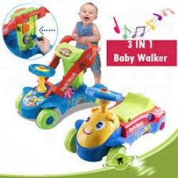 New Edition Multi-functional Educational 3 in 1 Walker